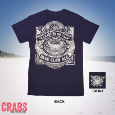Blue Claw Ale Tee Navy