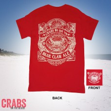 Blue Claw Ale Red Tee