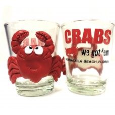 Crab's Shot Glass with Crab on Side