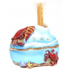 Crab Jeweled Toothpick Holder